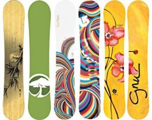 スノーボードのデザインイメージ