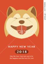 2018年 年賀状テンプレート「柴犬」シリーズ