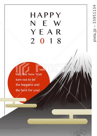 2018年 年賀状テンプレート「富士と初日の出」シリーズ