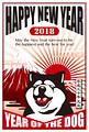 2018年 干支年賀状テンプレート「柴犬02」シリーズ