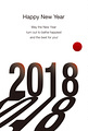 2018年 年賀状テンプレート「2018」シリーズ