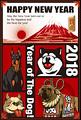 2018年 年賀状テンプレ「犬と富士と初日の出」シリーズ
