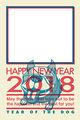 2018年 写真入り年賀状テンプレ「フレンチブルドッグ」