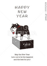 2018年 年賀状テンプレート「柴犬02」シリーズ