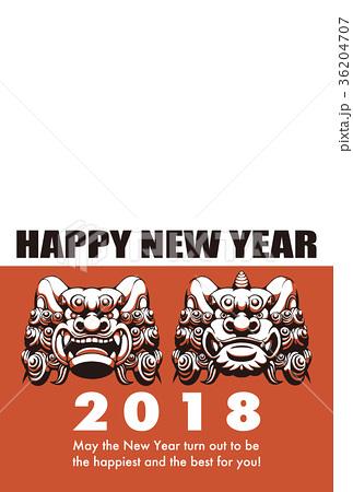 2018年 年賀状テンプレ「狛犬フォトフレーム」シリーズ