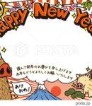 2019写真入り年賀状「落書きイノシシ」シリーズ